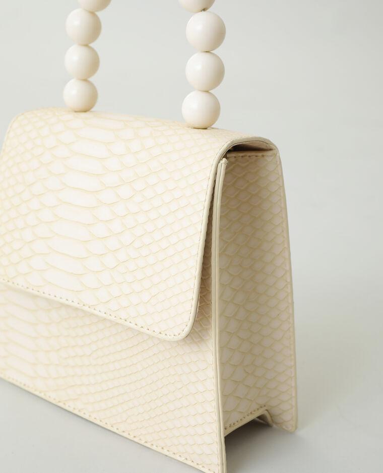 Borsa a mano con perle beige - Pimkie