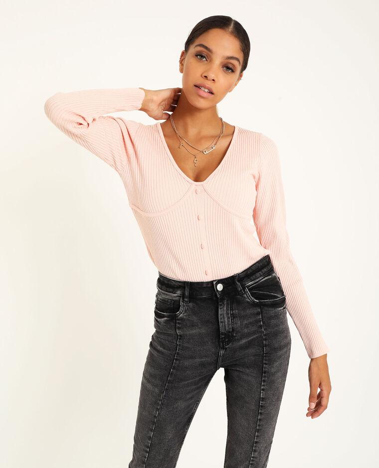 Top in maglia rosa