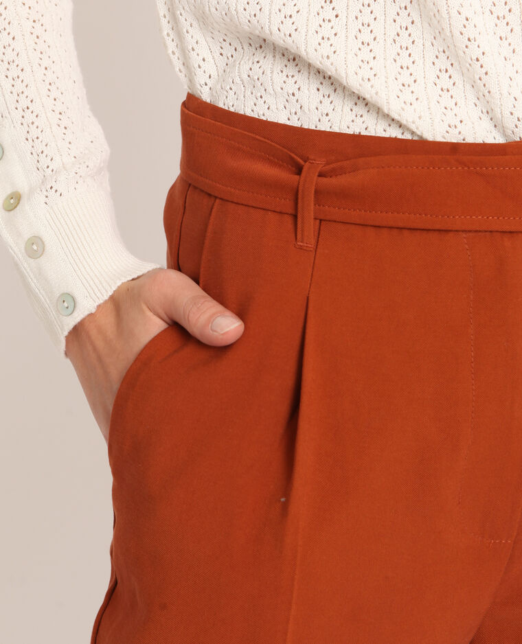 Pantalone morbido ruggine