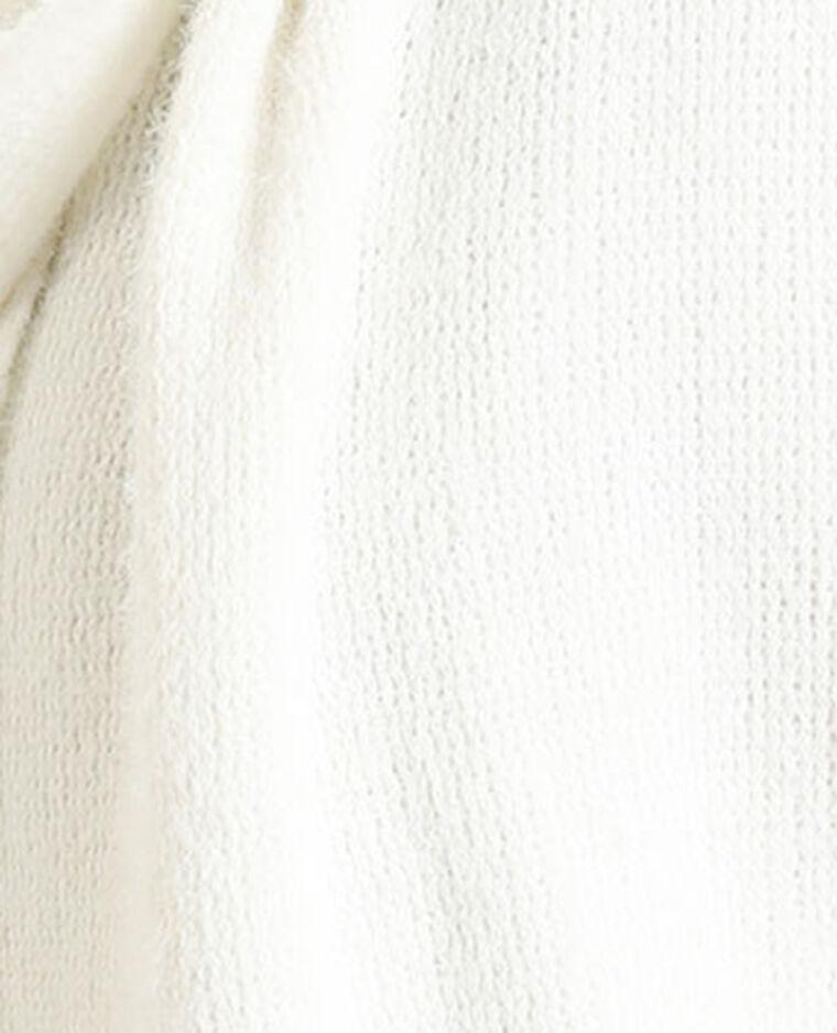Sciarpa con frange bianco