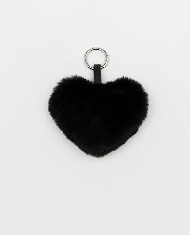 Portachiavi cuore nero
