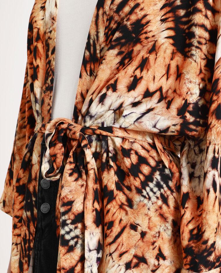 Kimono tie & dye marrone
