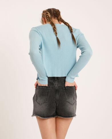 Cardigan corto blu cielo