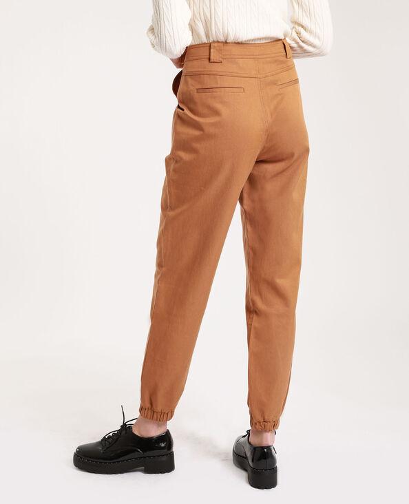 Pantalone cargo cammello