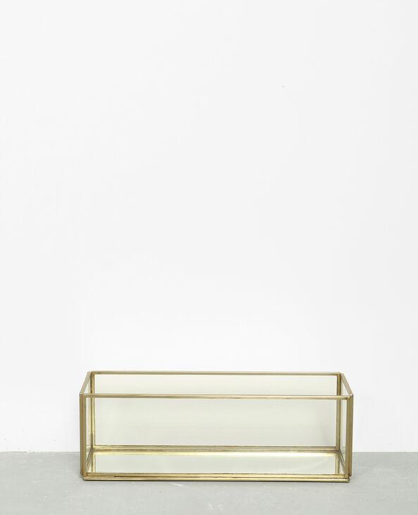 Cofanetto in vetro e metallo dorato