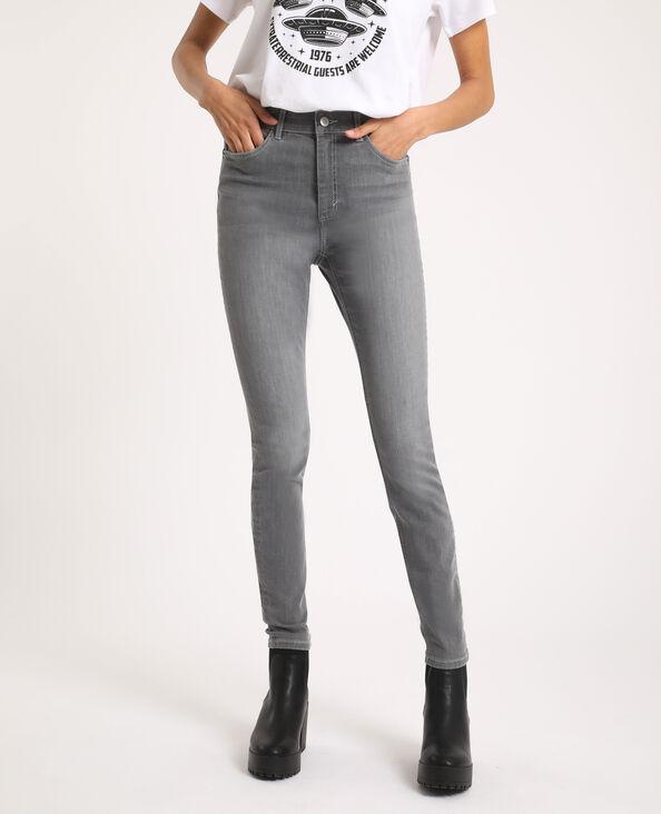 Jeans skinny high waist grigio