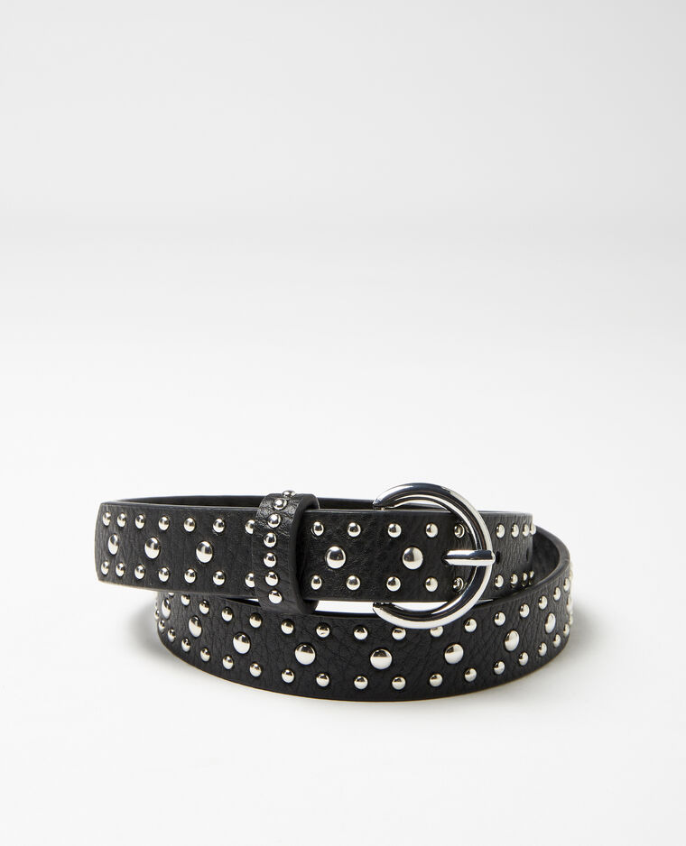 Cintura con borchie nero