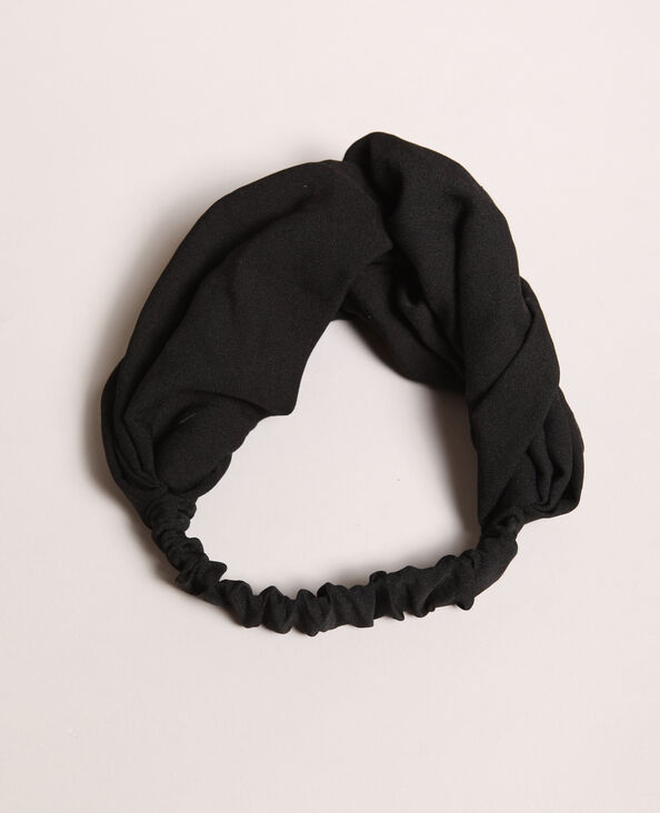 Headband tinta unita nero