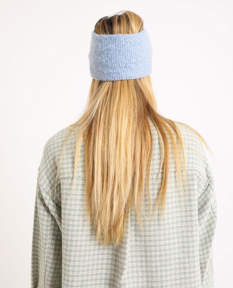 Fascia in maglia blu cielo