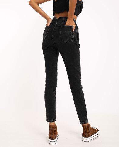 Jeans skinny high waist grigio delavato