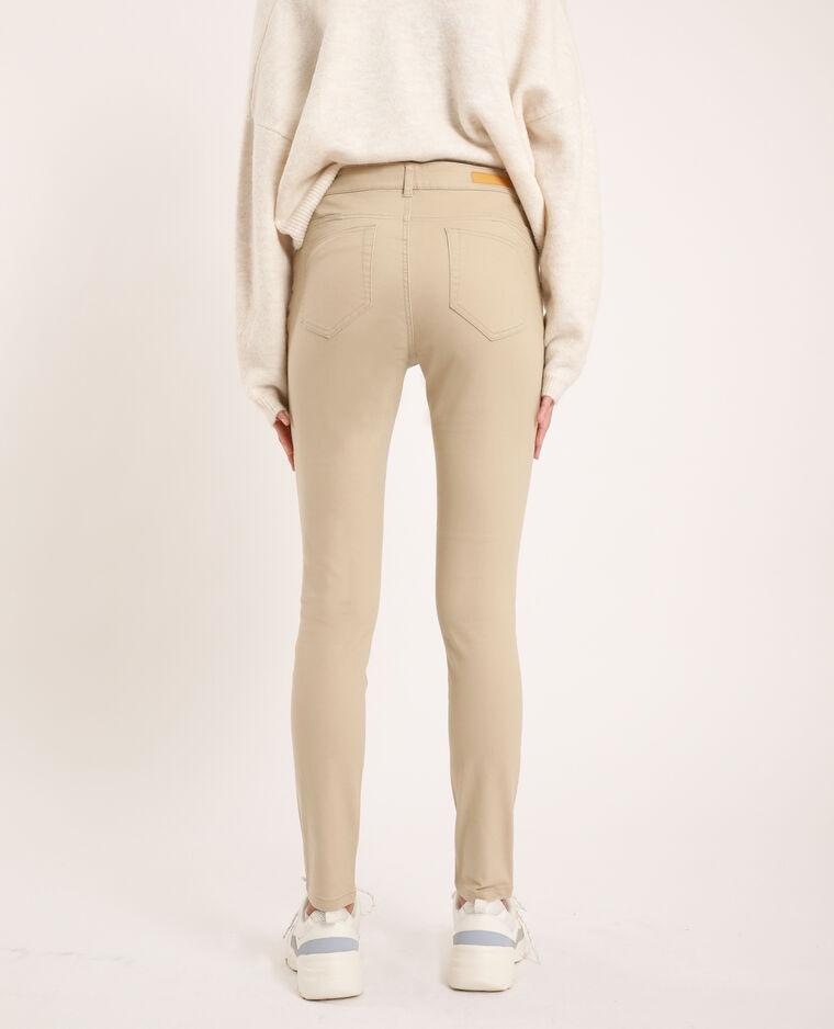 Pantalone skinny push up beige