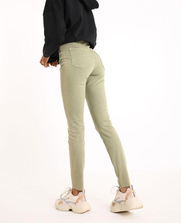 Jeans skinny high waist kaki - Pimkie