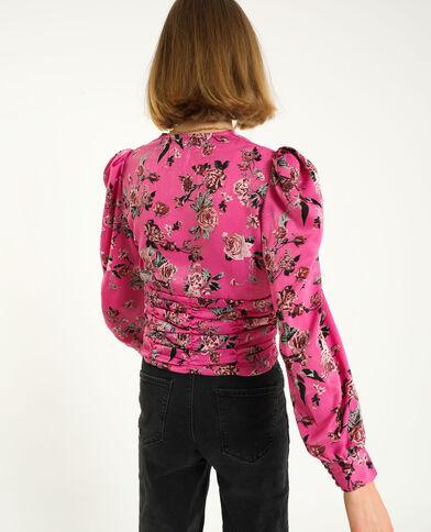 Top incrociato rosa