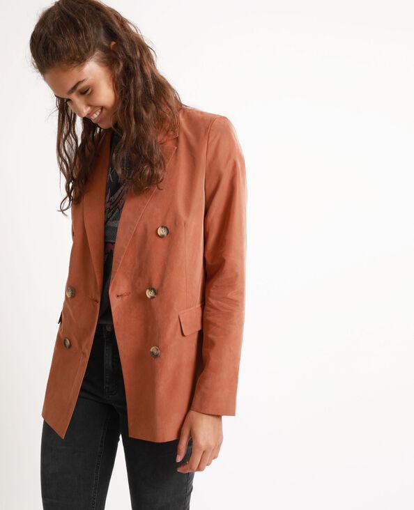 Giacca larga marrone