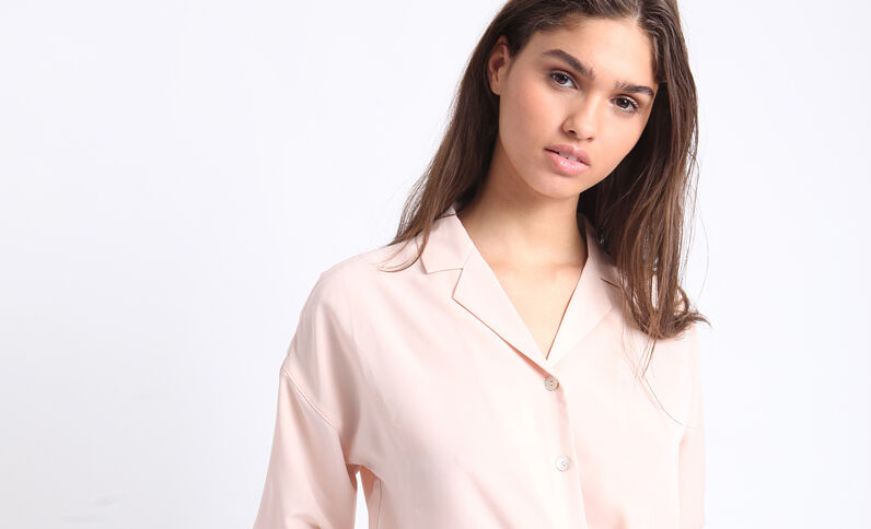 Camicia corta rosa