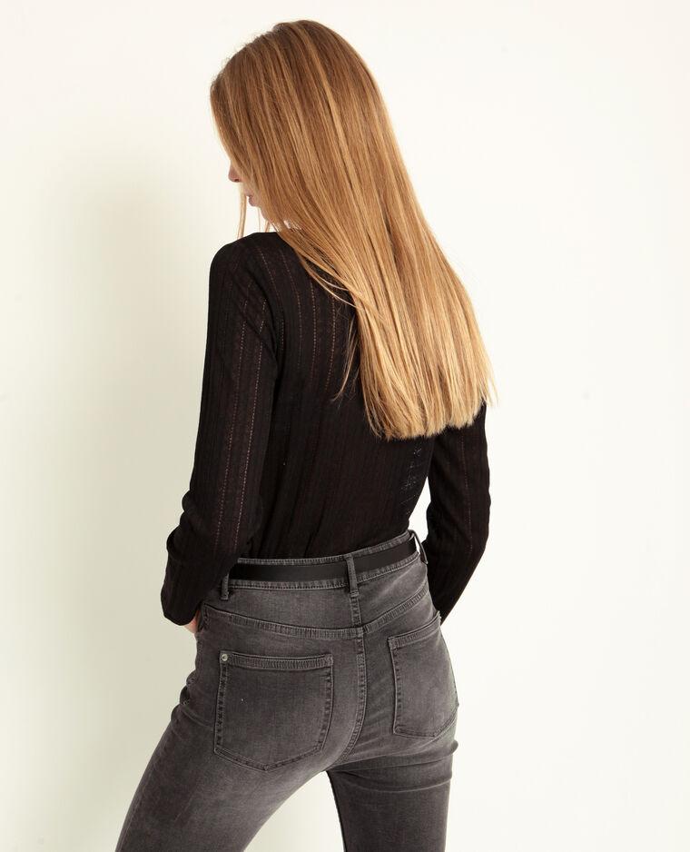 T-shirt abbottonata nero