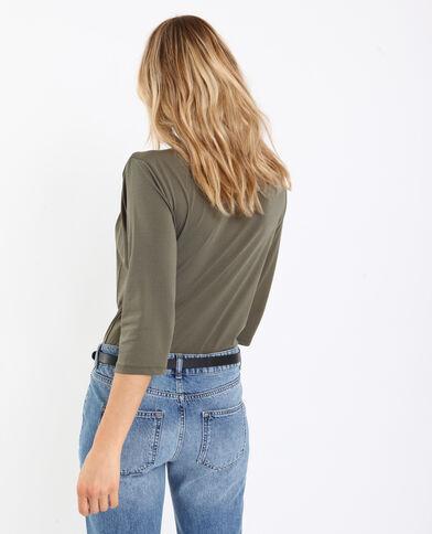 Body camicia in pizzo verde