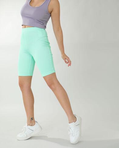 Pantaloncini in stile ciclista verde acqua
