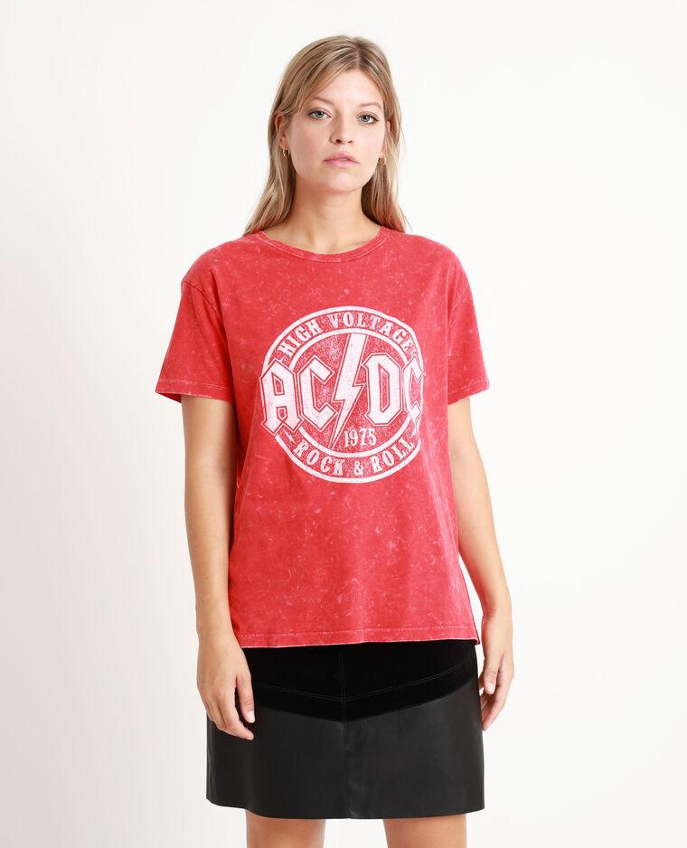 T-shirt AC/DC rosso - Pimkie