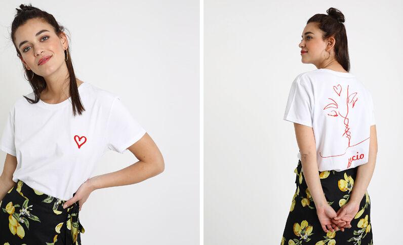 T-shirt Bacio bianco