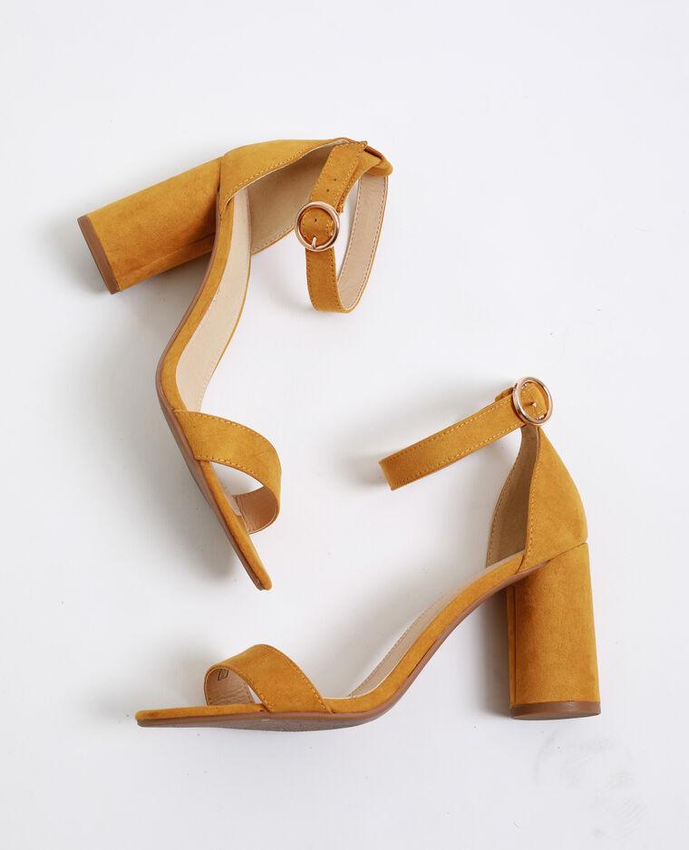 Sandali con tacchi rotondi giallo