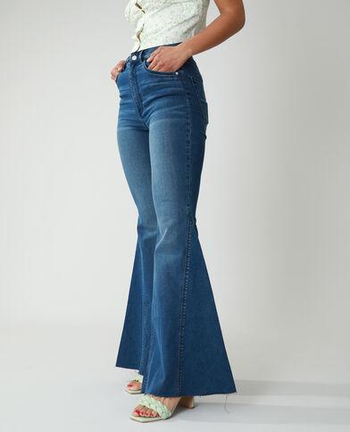 Jeans flare high waist blu grezzo - Pimkie