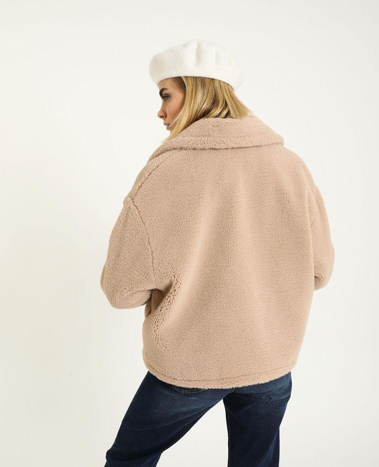 Giacca in pelliccia ecologica beige - Pimkie