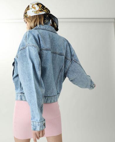 Giacca di jeans oversize blu denim
