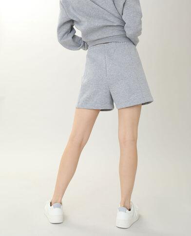 Short in tessuto felpato grigio