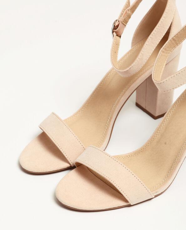 Sandali nude rosa cipria