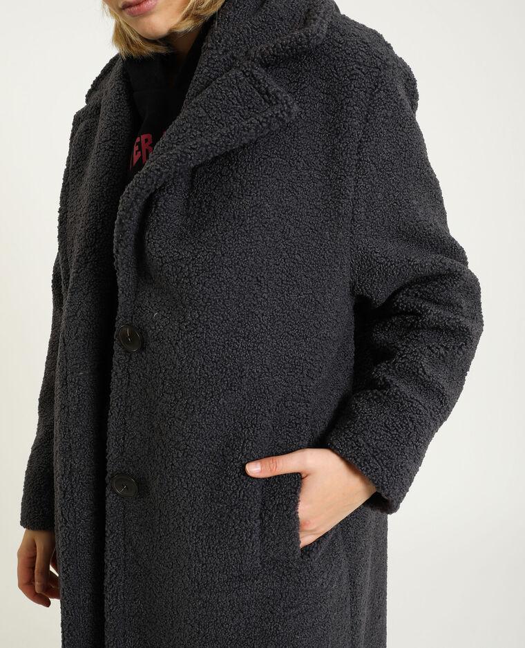 Cappotto oversize bouclé grigio