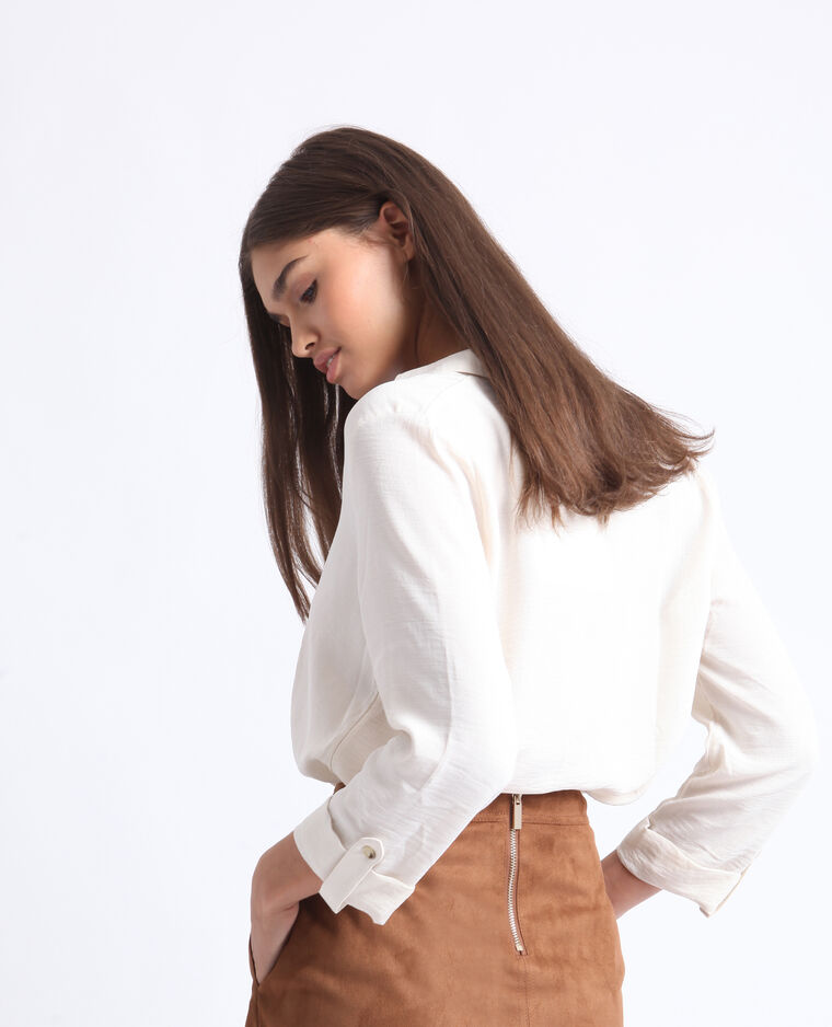 Camicia con bottoni bianco