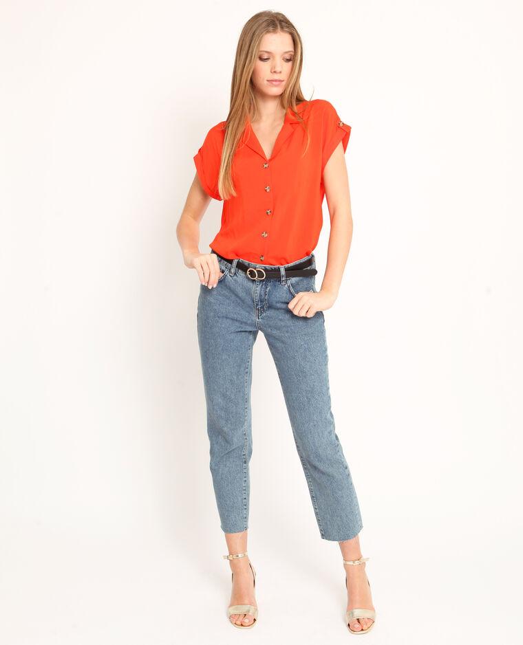 Camicia maniche corte arancio