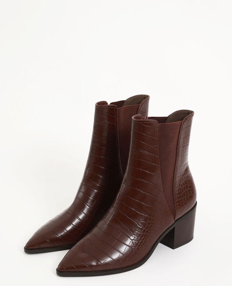 Boots coccodrillo marrone