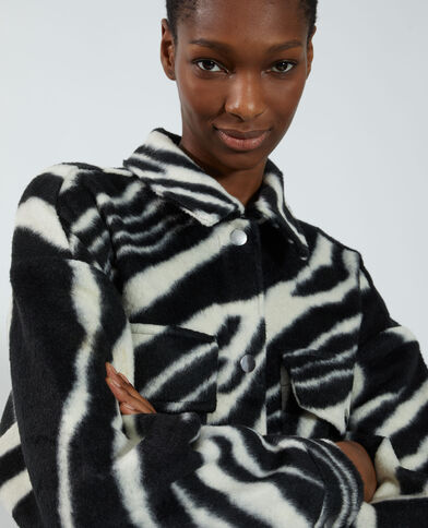 Giacca camicia zebrata nero - Pimkie