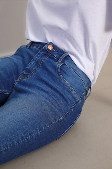 Skinny mid waist