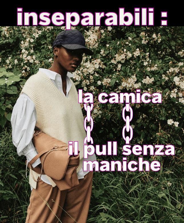 inseparabili: la camicia + il pull senza maniche