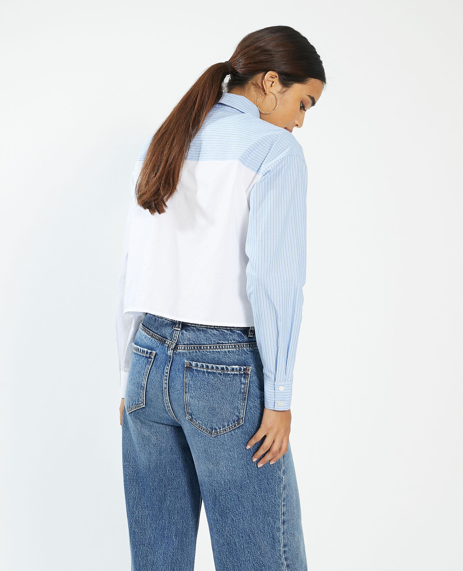 Camicia bicolore a righe bianco - Pimkie
