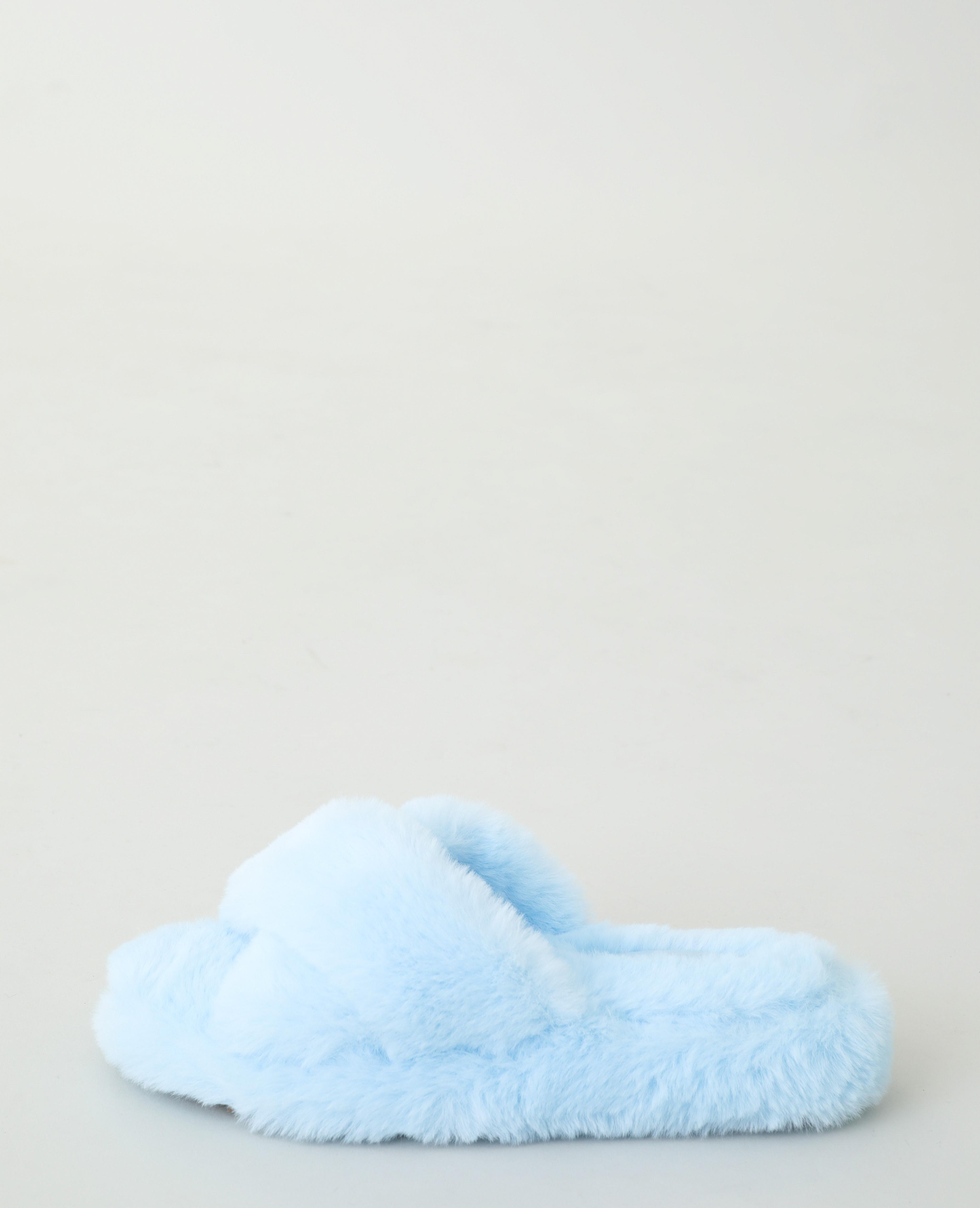 Sabot in finto montone blu denim - Pimkie