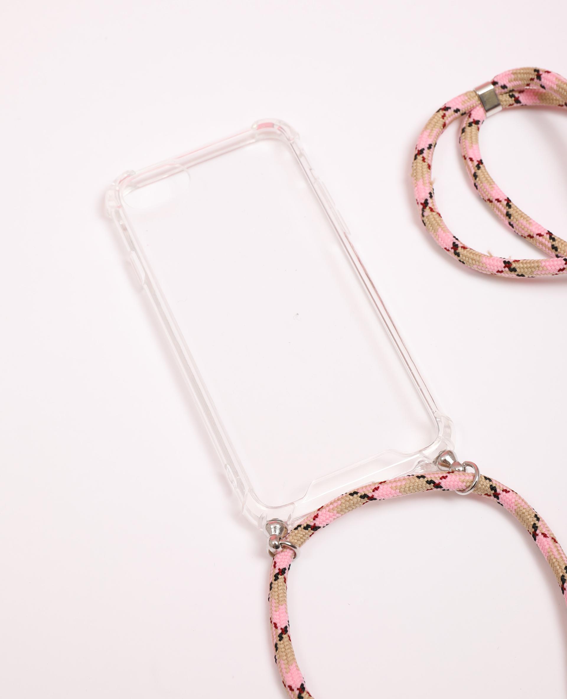 Custodia con cordino compatibile con iPhone bianco - Pimkie