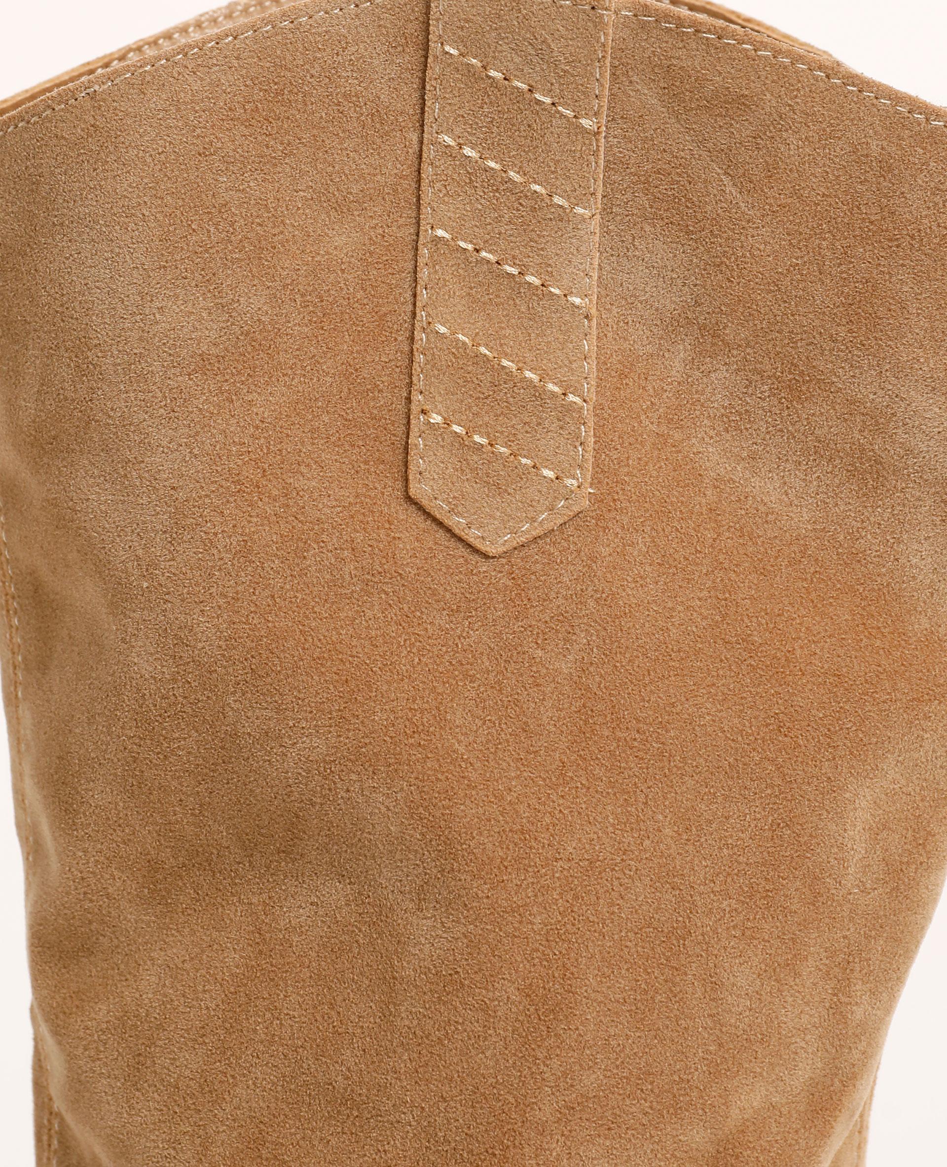 Stivaletti con tacco effetto nabuck beige - Pimkie