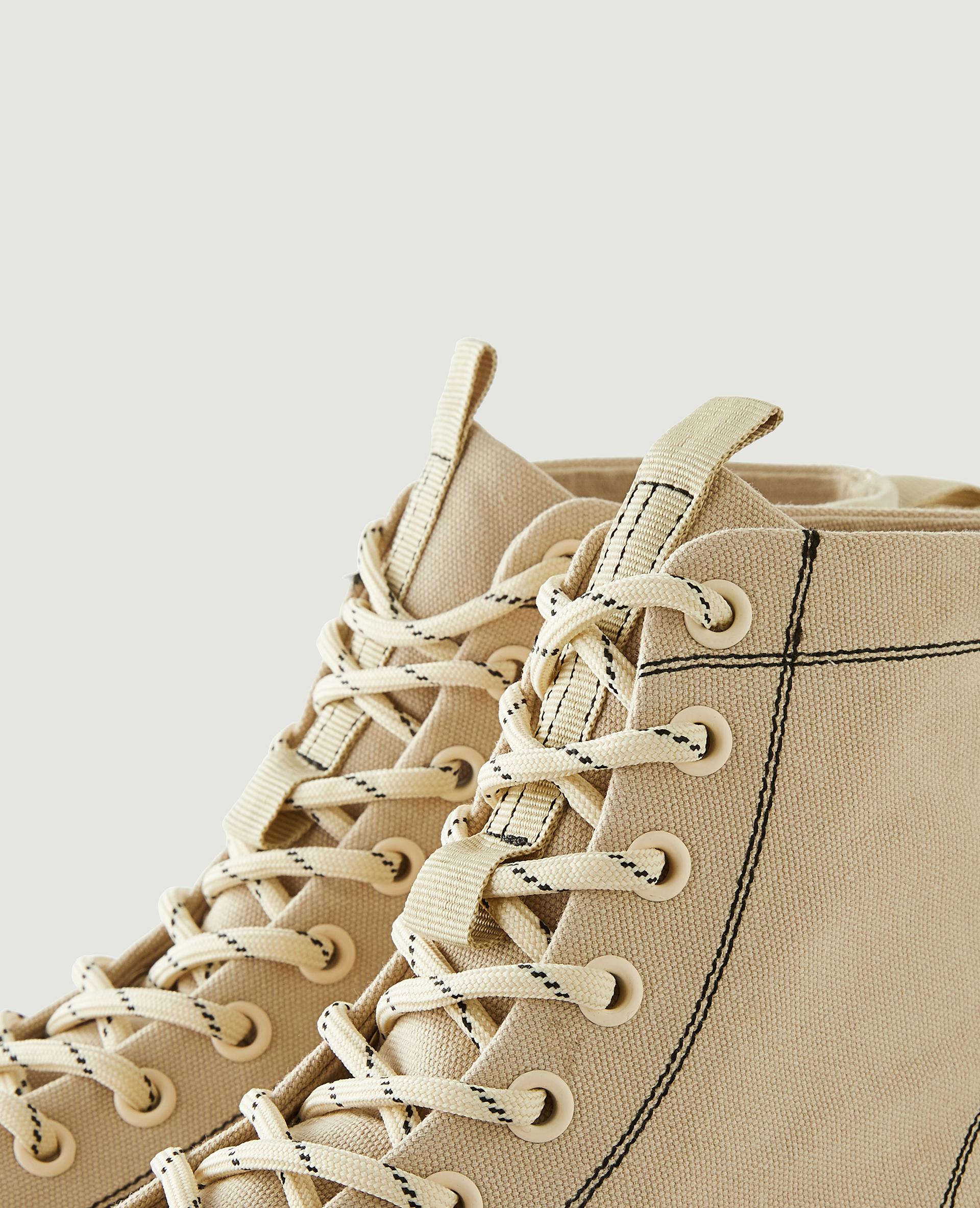 Scarpe da tennis con plateau beige - Pimkie