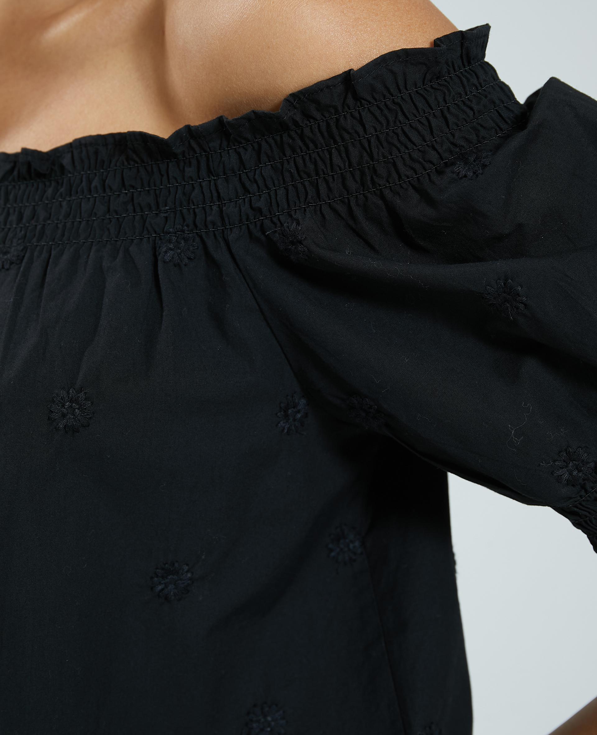 Blusa ricamata nero - Pimkie