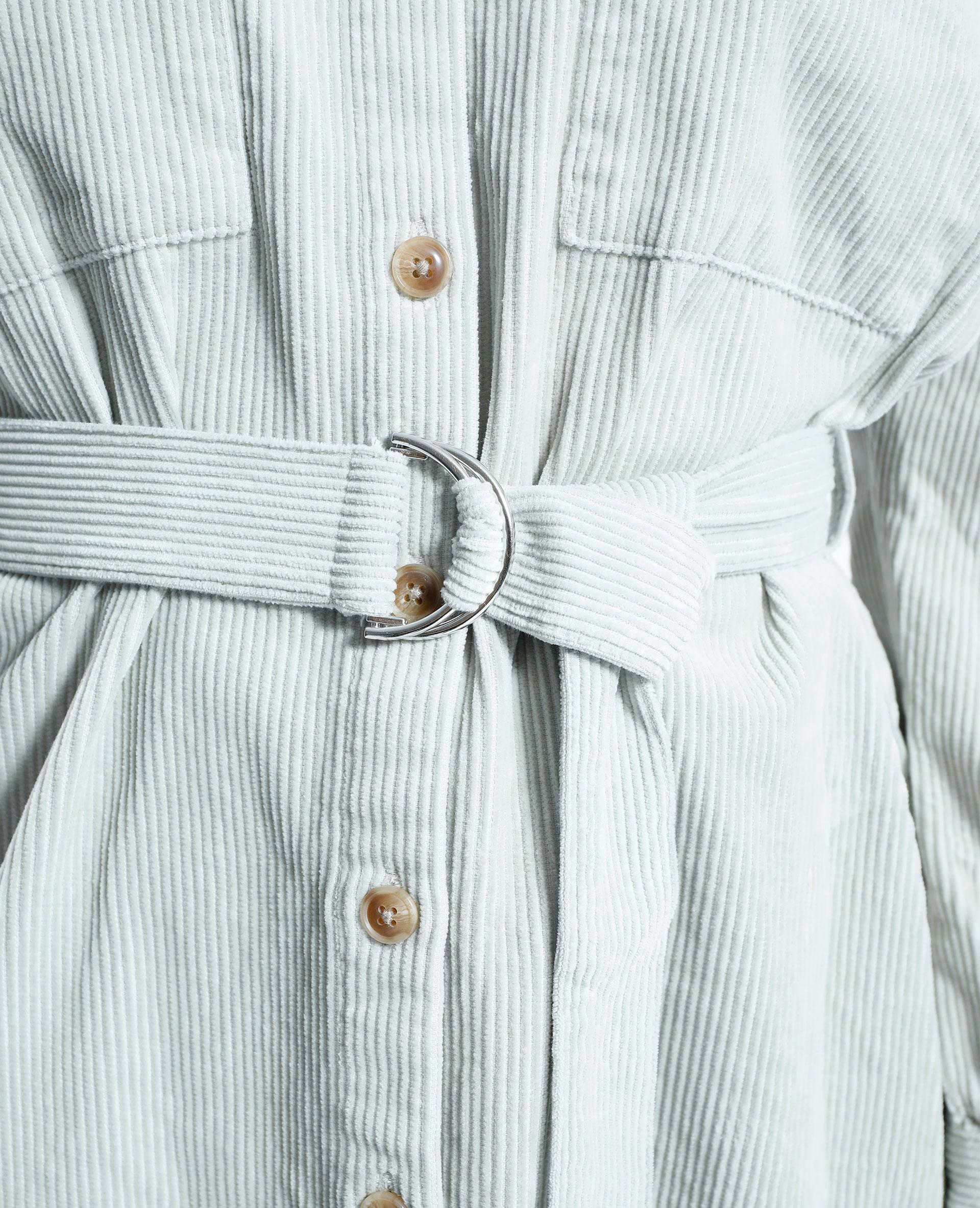 Giacca camicia in velluto con cintura verde - Pimkie