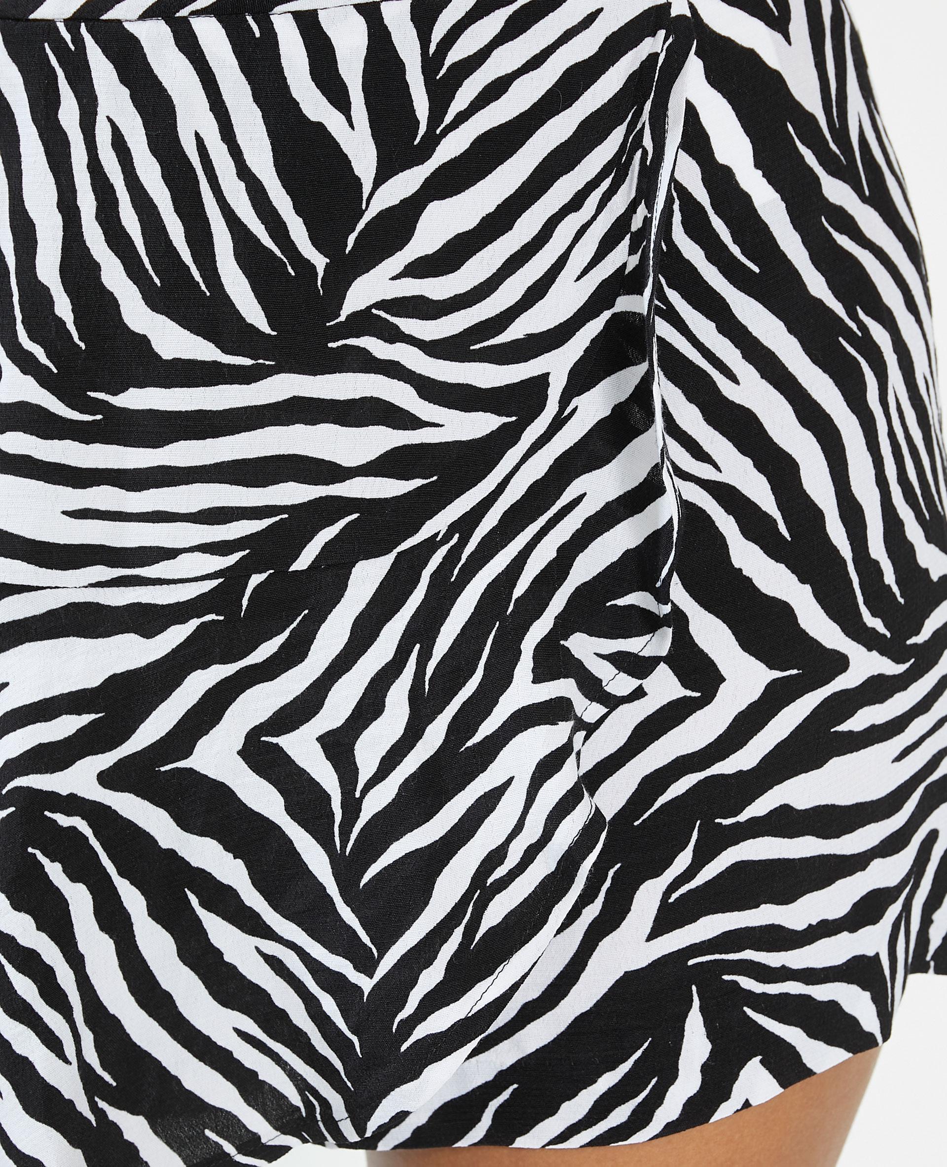 Gonna short tigrata nero - Pimkie