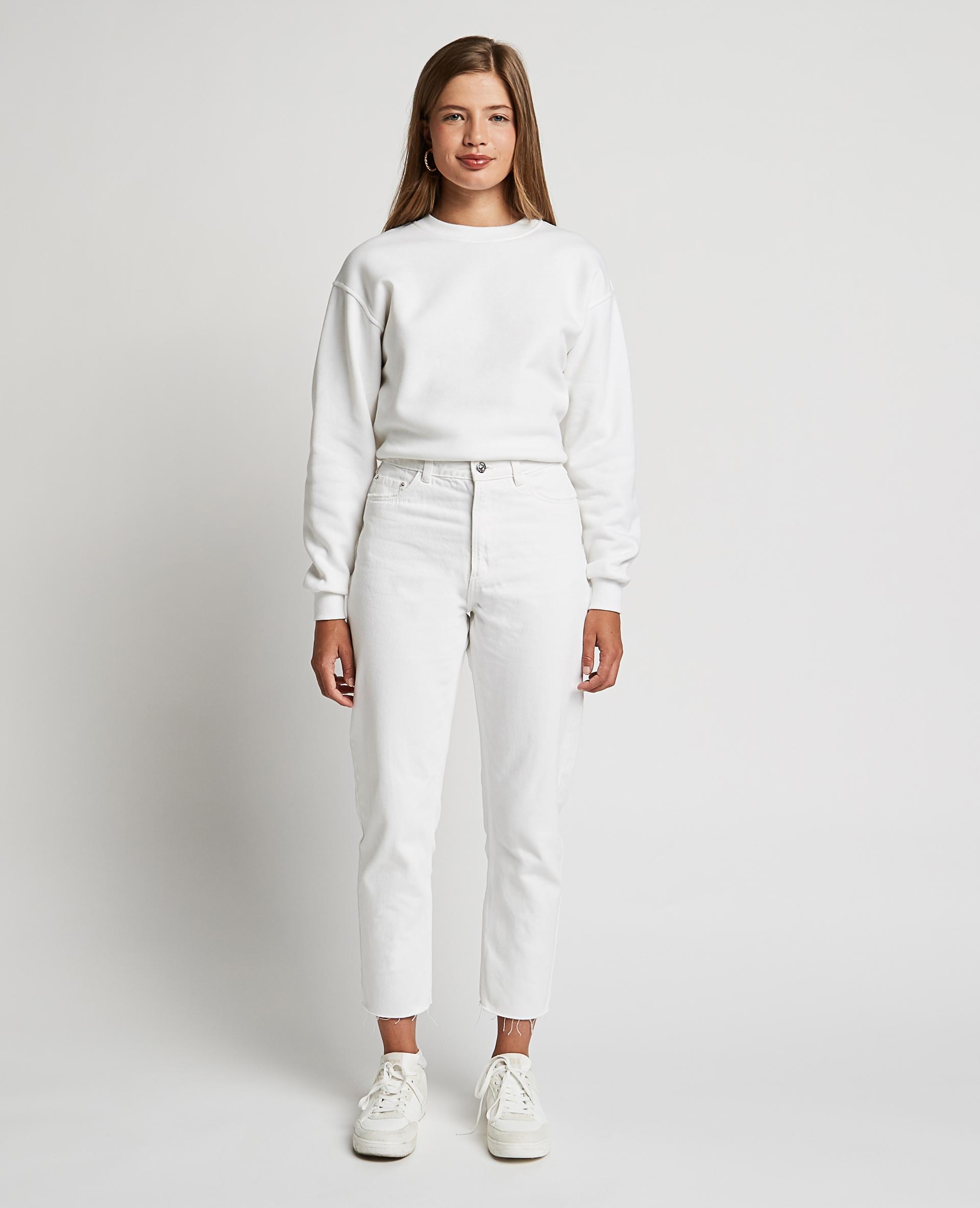 Jeans a vita alta bianco - Pimkie