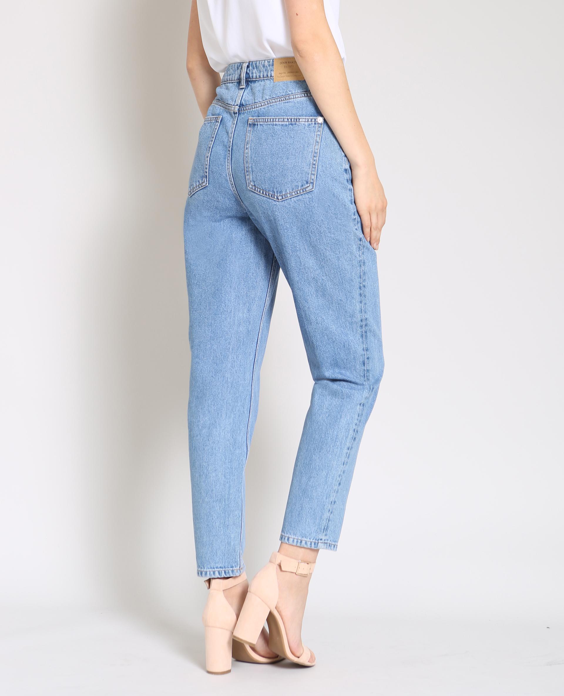 Jeans mom blu scuro 34983f0d254