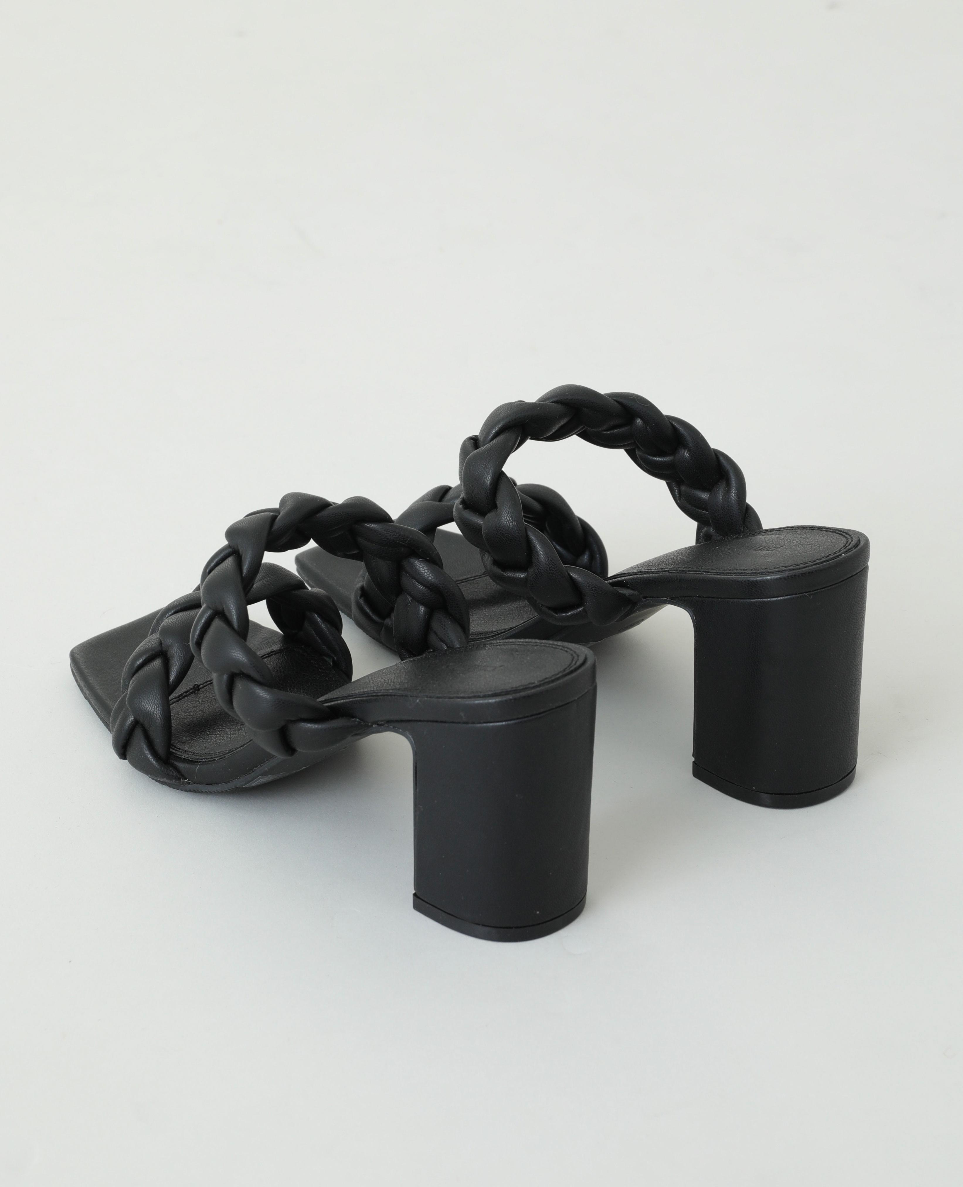 Sabot con tacco intrecciati nero - Pimkie
