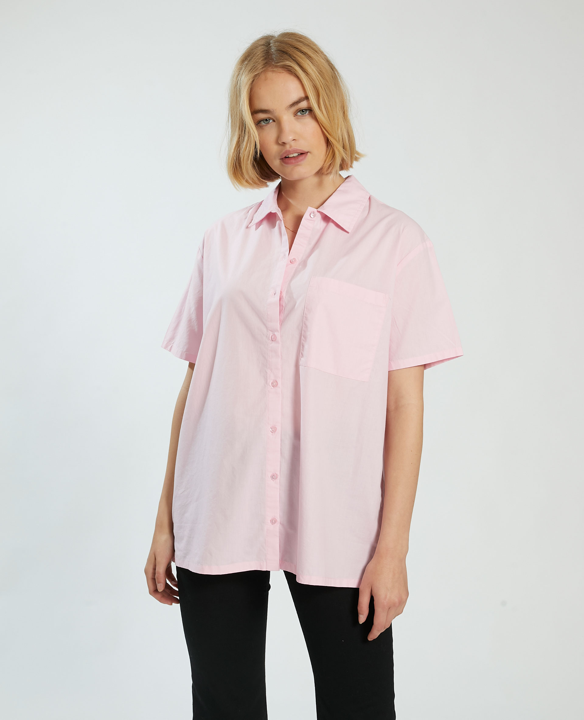 Camicia oversize rosa - Pimkie
