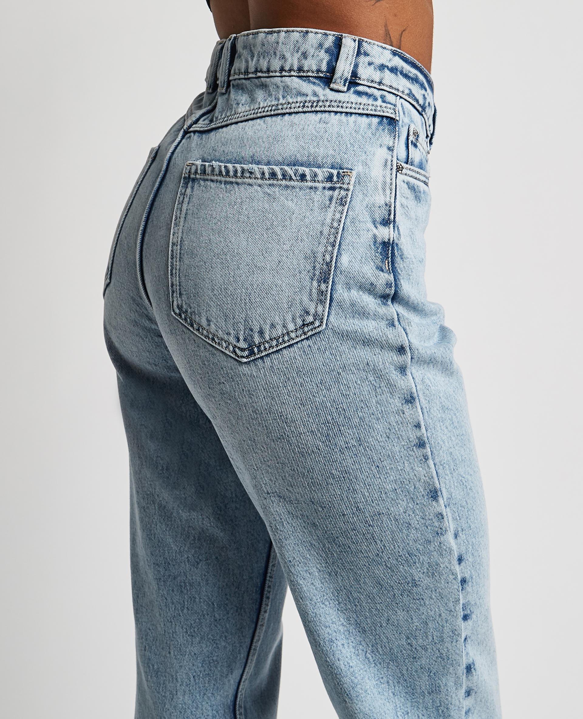 Jeans a vita alta blu chiaro - Pimkie